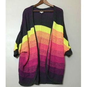 American Eagle Outfitters Rainbow Ombre Cardigan
